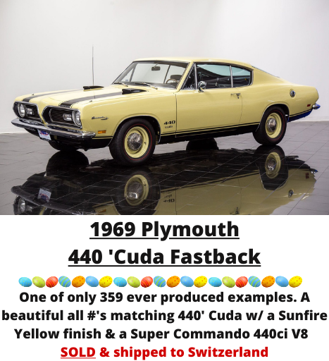 1969 Plymouth 440 'Cuda Fastback