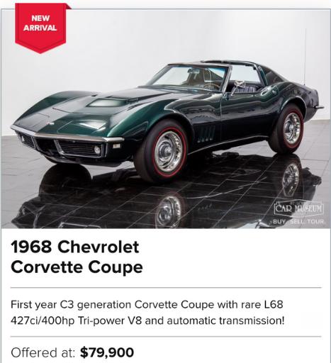 1968 Chevrolet Corvette Coupe for sale