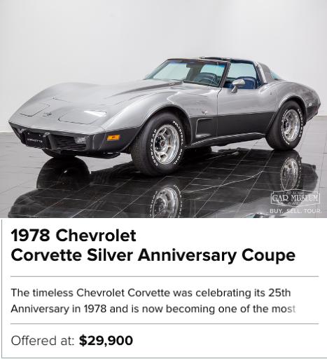 1978 Chevrolet Corvette Silver Anniversary Coupe for sale