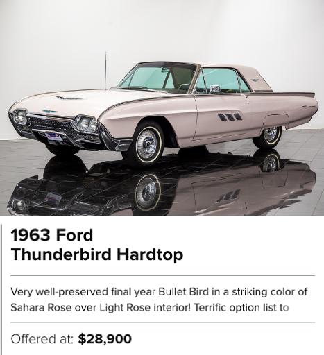 1963 Ford Thunderbird Hardtop for sale