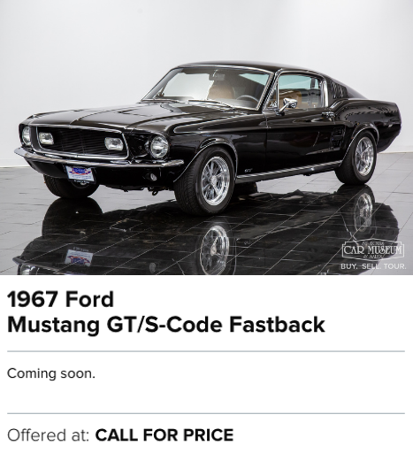 1967 Ford Mustang GT/S-Code Fastback for sale