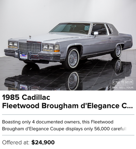 1985 Cadillac Fleetwood Brougham d'Elegance Coupe for sale