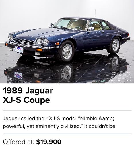 1989 Jaguar XJ-S Coupe for sale