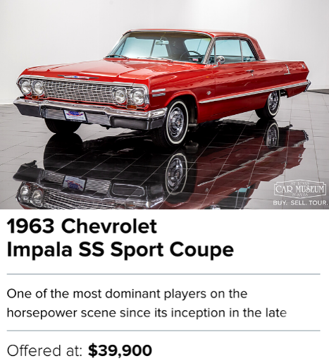 1963 Chevrolet Impala SS Sport Coupe for sale
