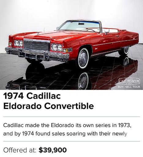 1974 Cadillac Eldorado Convertible for sale