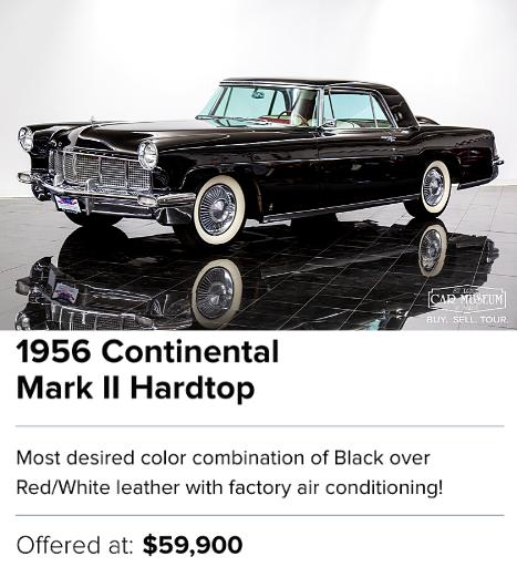 1956 Continental Mark II Hardtop for sale