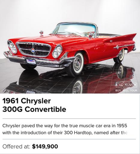 1961 Chrysler 300G Convertible for sale