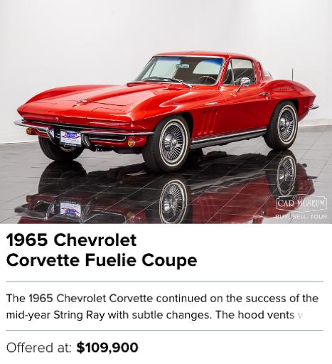 1965 Chevrolet Corvette Fuelie Coupe for sale