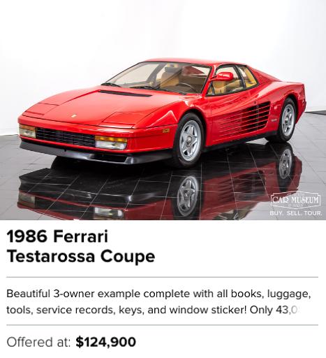 1986 Ferrari Testarossa Coupe for sale