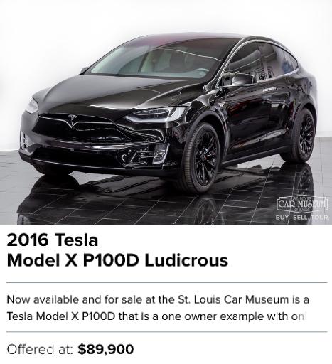 2016 Tesla Model X P100D Ludicrous for sale