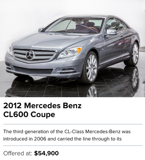 2012 Mercedes Benz CL600 Coupe for sale