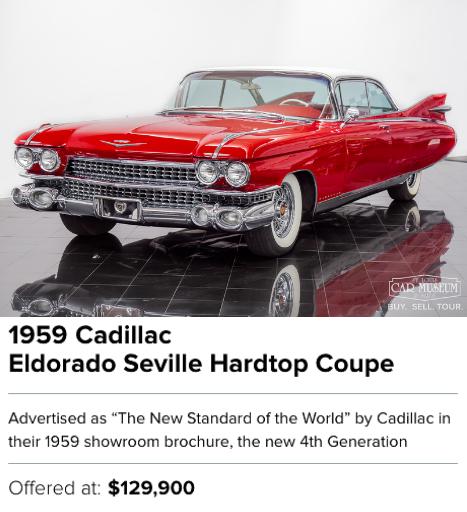 1959 Cadillac Eldorado Seville Hardtop Coupe for sale