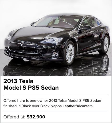 2013 Tesla Model S P85 Sedan for sale