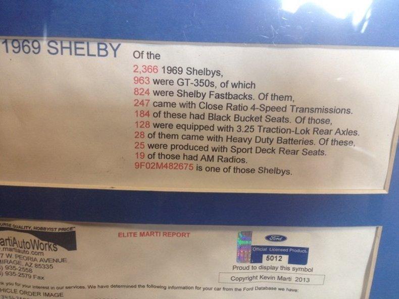 1969 Shelby GT350 --: 1969 Shelby GT350  27963 Miles  Hardtop 351 V8 4 speed Manual