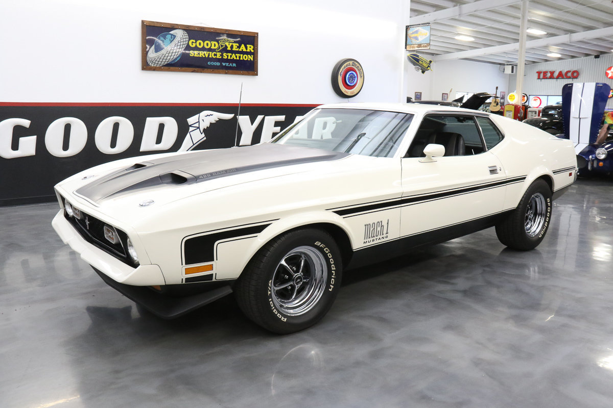 1971 ford mustang mach1 super cobra jet 429 drag pac 4 speed detroit lokar for sale 77165 mcg. Black Bedroom Furniture Sets. Home Design Ideas