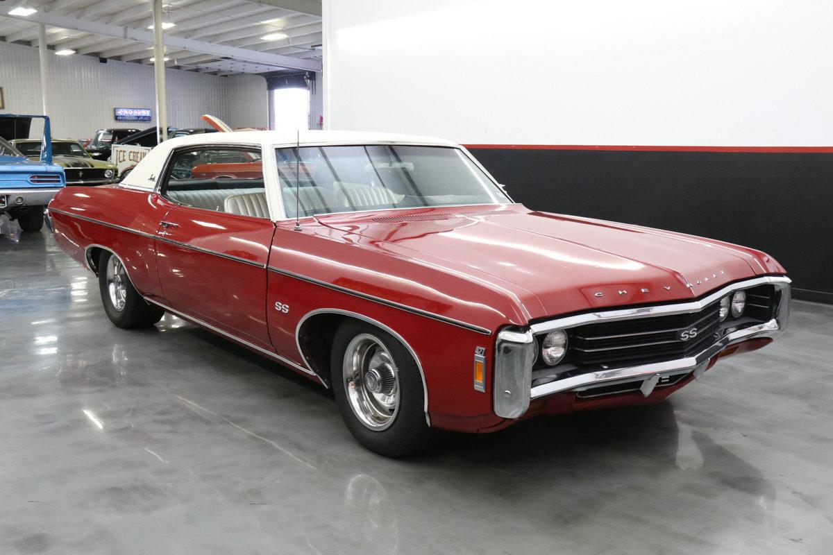 1969 chevrolet impala ss 427 fresh ps pb ac console. Black Bedroom Furniture Sets. Home Design Ideas
