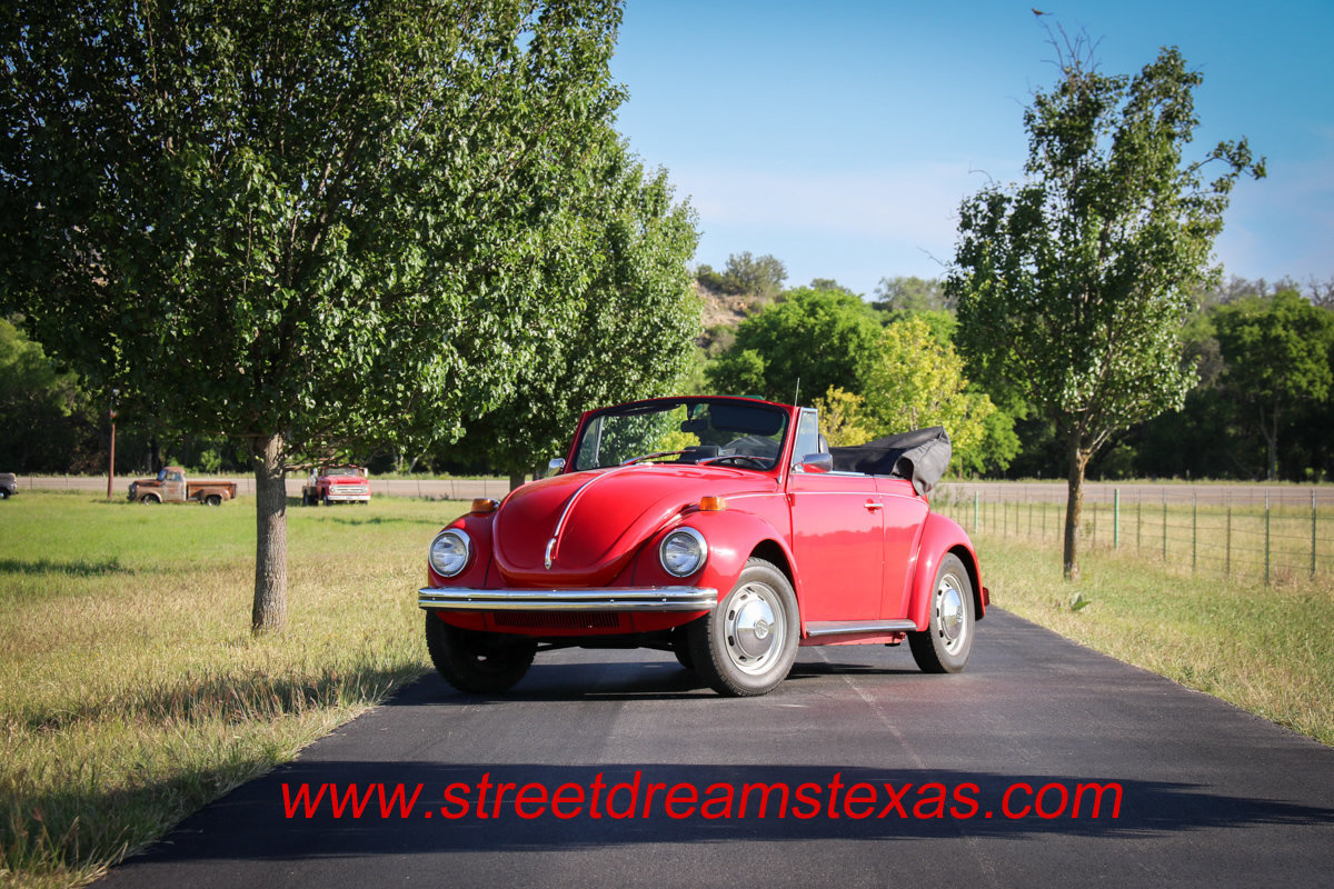 1972 volkswagen beetle nice little red convertible 4 cyl 4spd for sale 86713 mcg. Black Bedroom Furniture Sets. Home Design Ideas