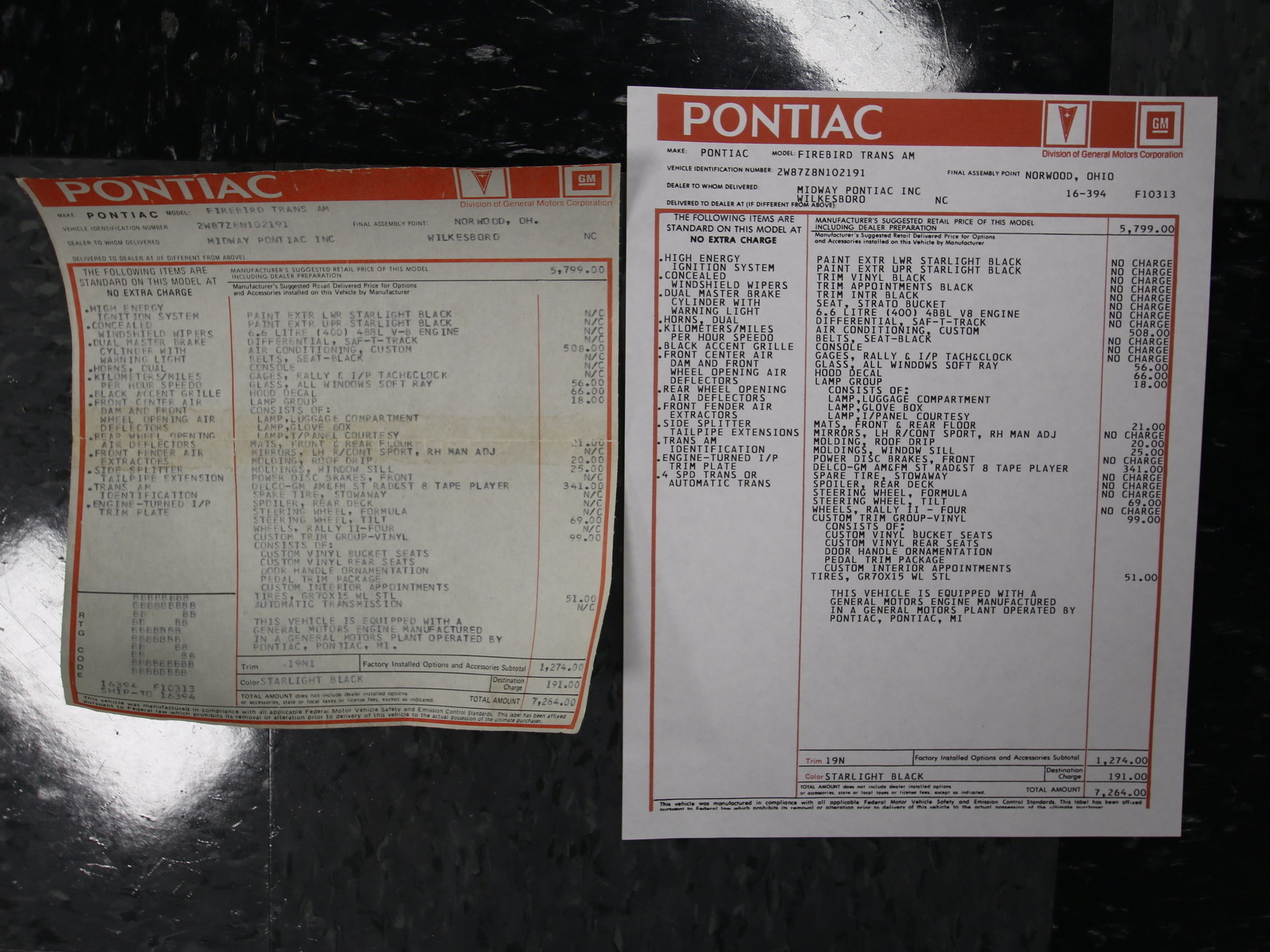 1978 Pontiac Streetside Classics The Nations Trusted Classic 77 Tran Am Ignition Wiring Diagram View 360
