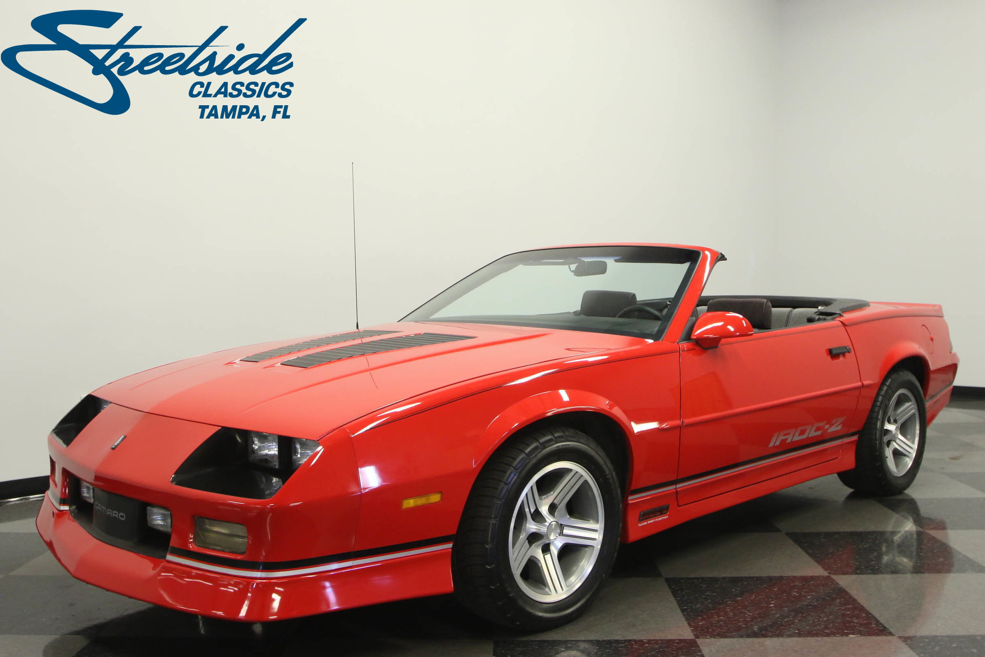 1990 chevrolet camaro iroc z 28 convertible for sale 50851 mcg. Black Bedroom Furniture Sets. Home Design Ideas