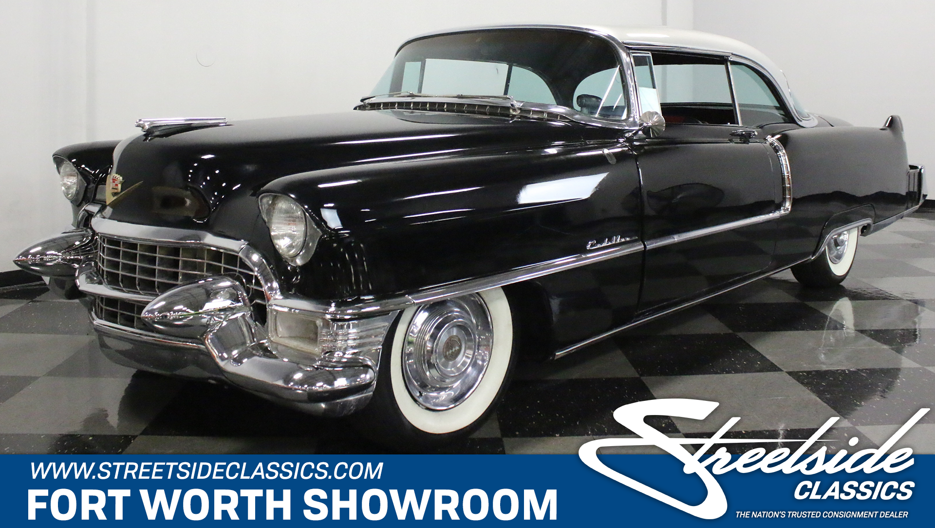 1955 cadillac series 62 streetside classics the nation 39 s trusted classic car consignment dealer. Black Bedroom Furniture Sets. Home Design Ideas