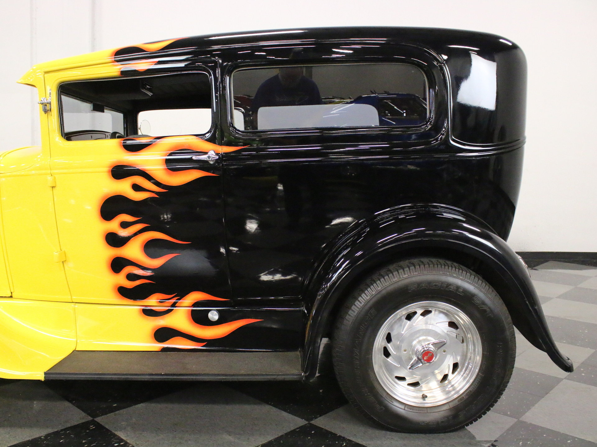 1930 Ford Model A Streetside Classics The Nations Trusted Chevy Sedan Spare Tire Mount View 360