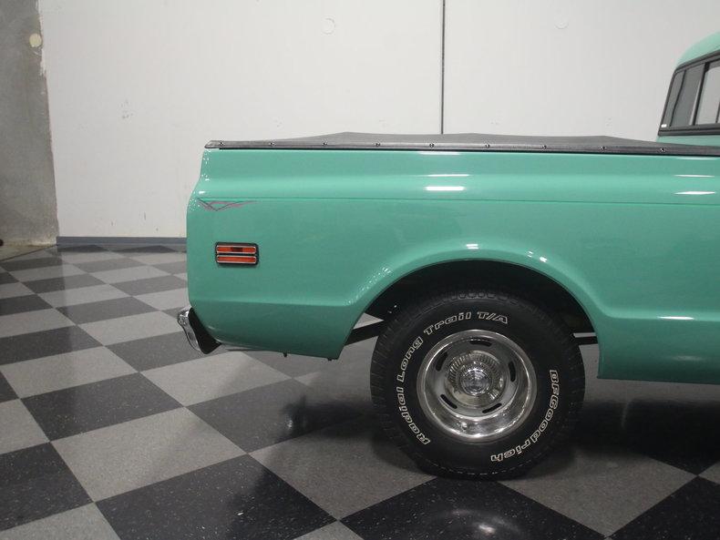 Side Of  S Sea Foam Green Car