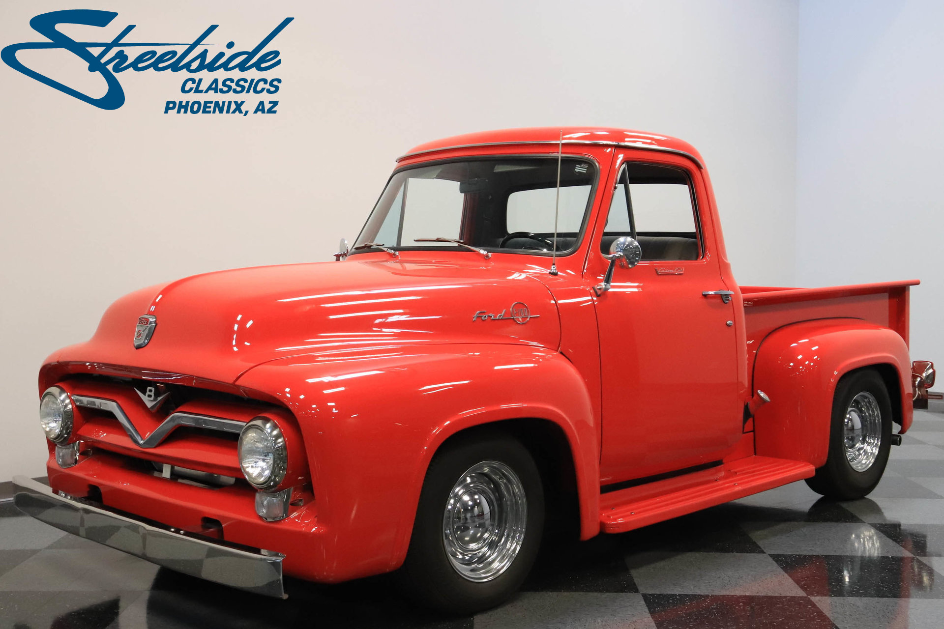 1955 Ford F 100 Streetside Classics The Nations Trusted Classic F100 On 20 Inch Wheels Show More Photos