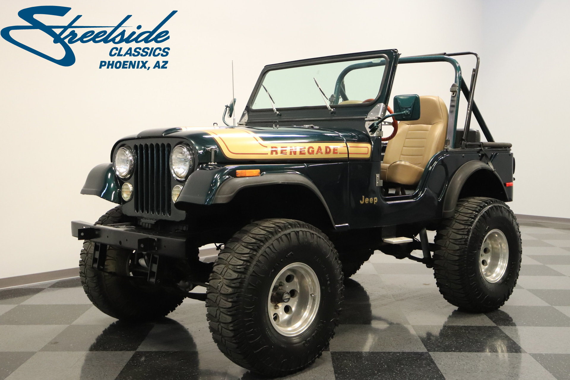 1976 jeep cj5 streetside classics the nation 39 s trusted classic car consignment dealer. Black Bedroom Furniture Sets. Home Design Ideas