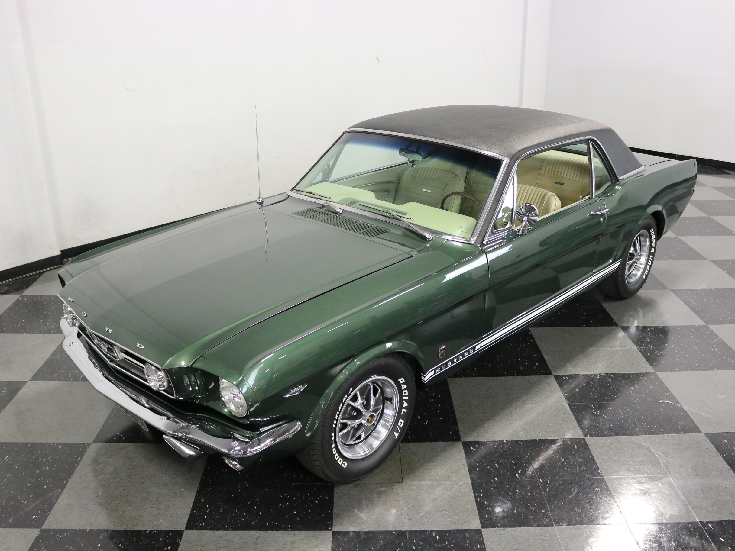 1966 Ford Mustang GT: VERY CLEAN A-CODE GT! CORRECT COLORS, RALLY PAC GAUGES, AUTO, COLD A/C, NICE!