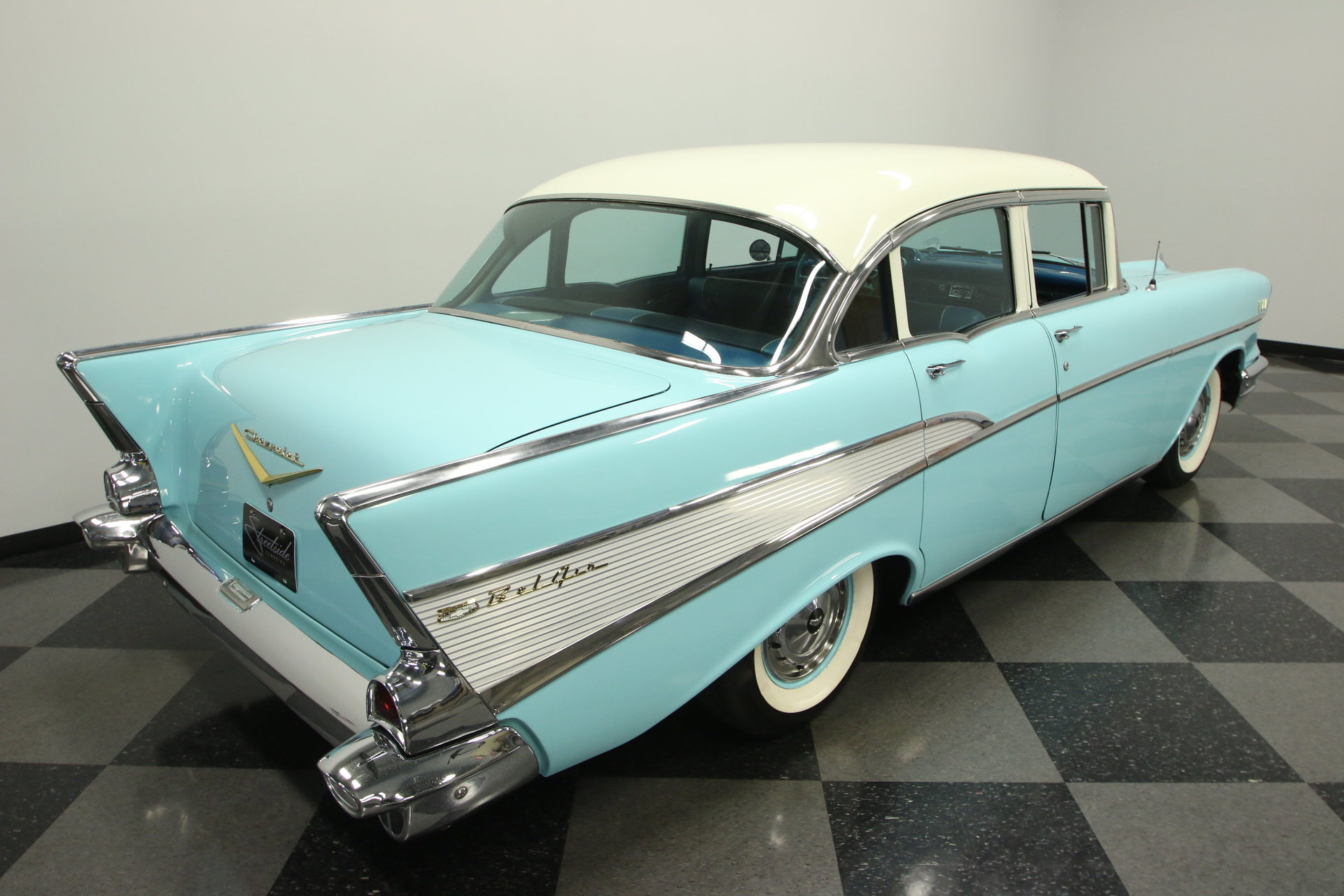 1957 Chevrolet Bel Air Streetside Classics The Nations Trusted Chevy 4 Door For Sale Spincar View Play Video 360