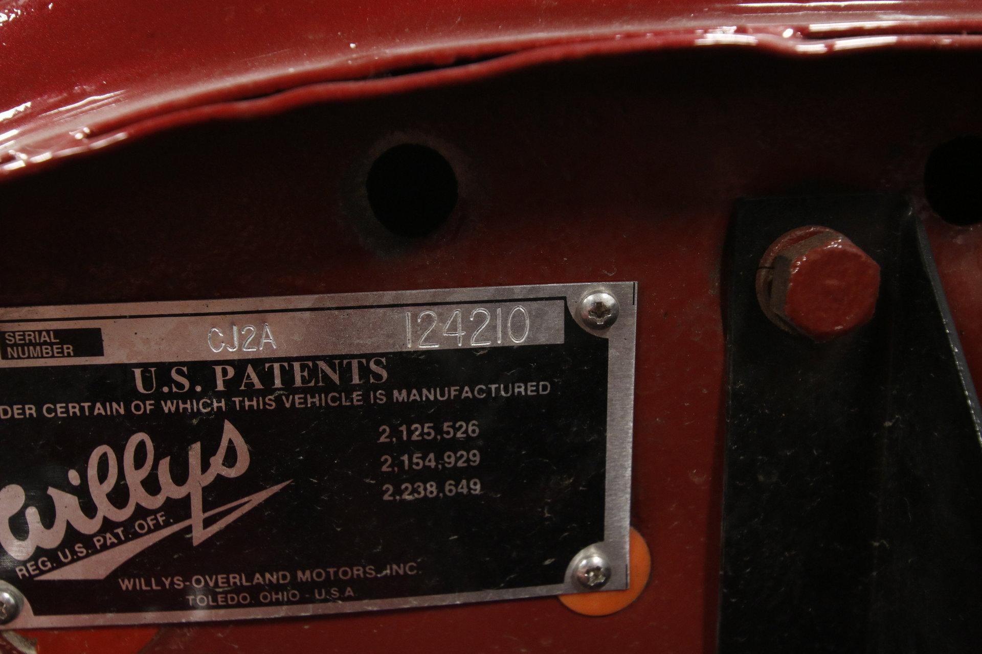 willys cj2a serial numbers