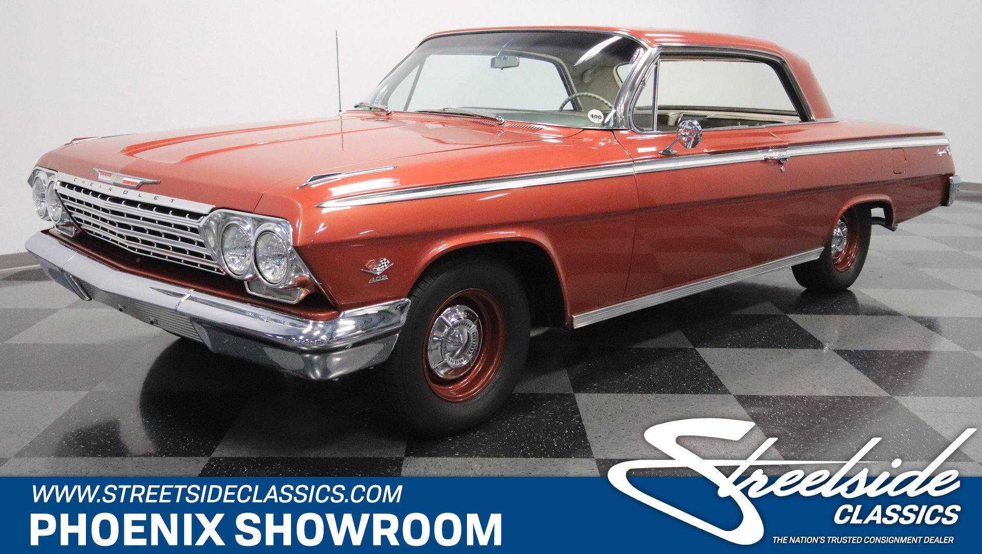 For Sale: 1962 Chevrolet Impala. Spincar view. Play Video