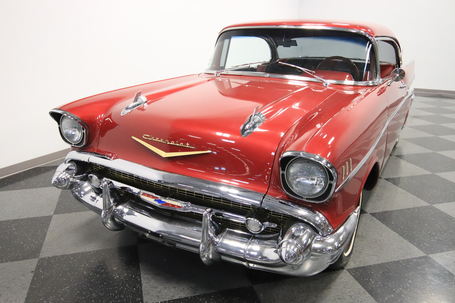 1957 Chevrolet Bel Air Streetside Classics The Nations Trusted Chevy Front Suspension View 360