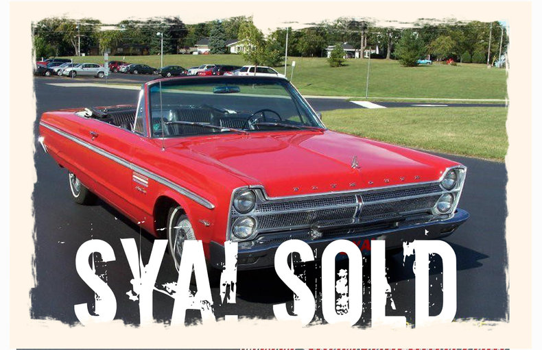 1965 1965 Pymouth Sport Fury For Sale