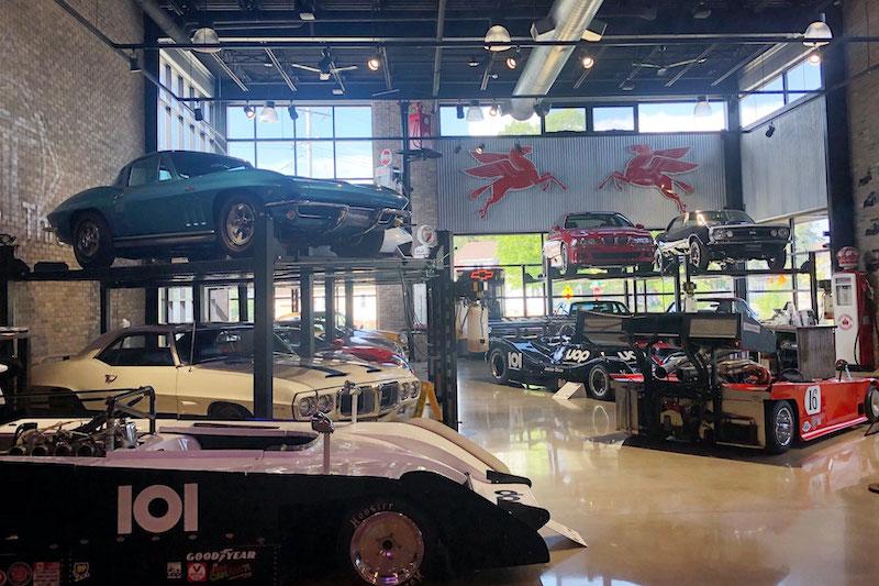 Throttlestop showroom in Elkhart Lake, Wisconsin