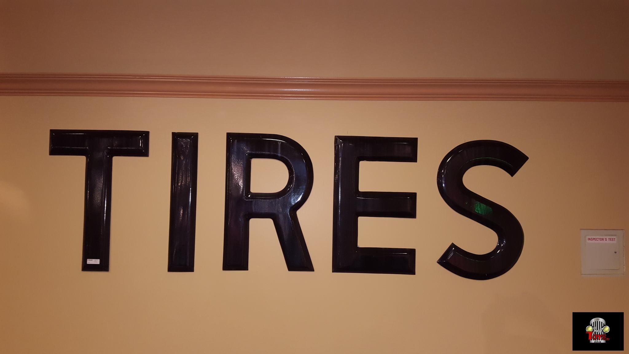 Large Tire Letters Porcelain