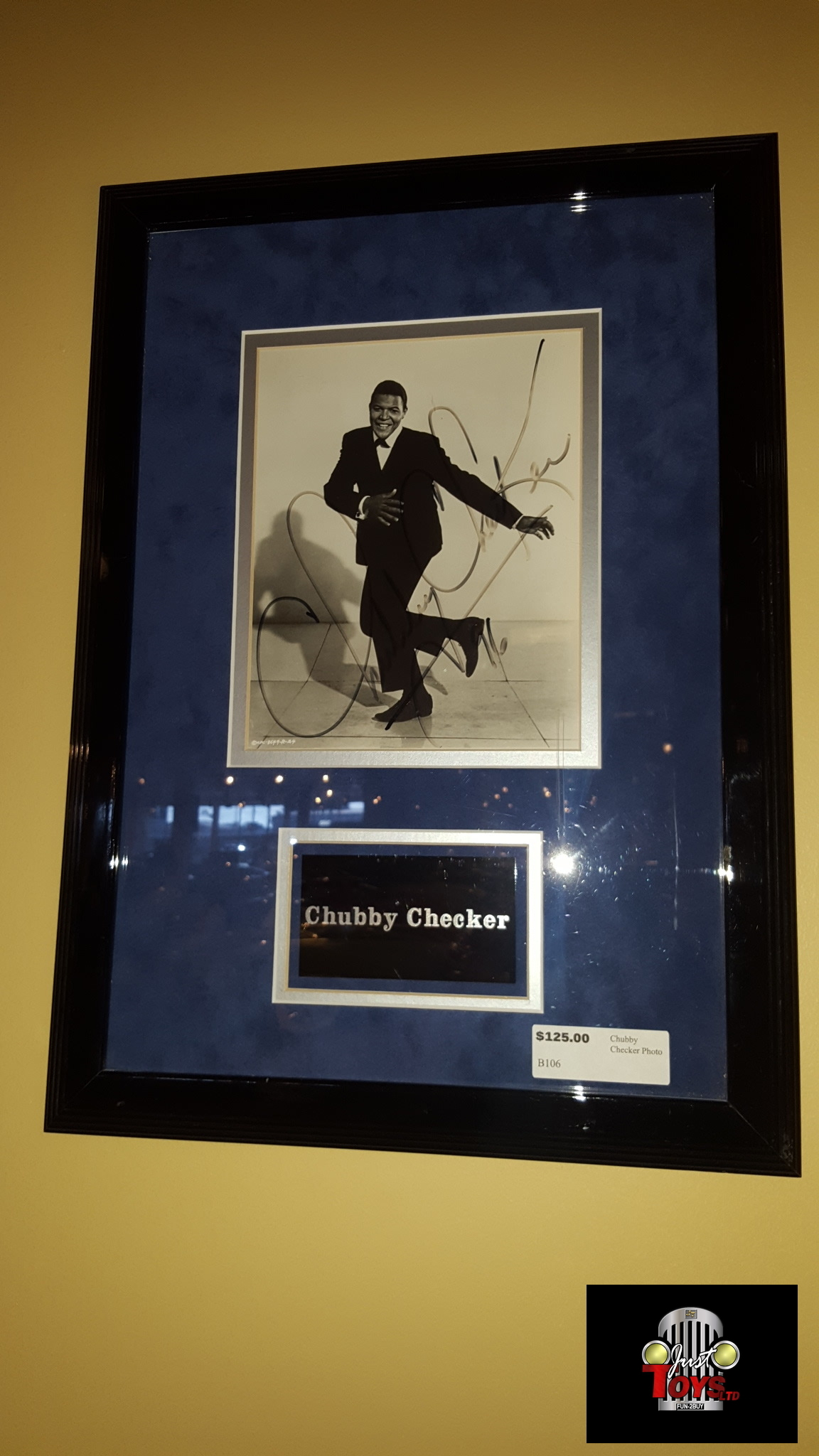 Autographed Chubby Checker Photo