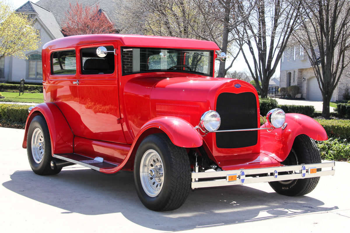 213107 1929 ford model a street rod  red 313010