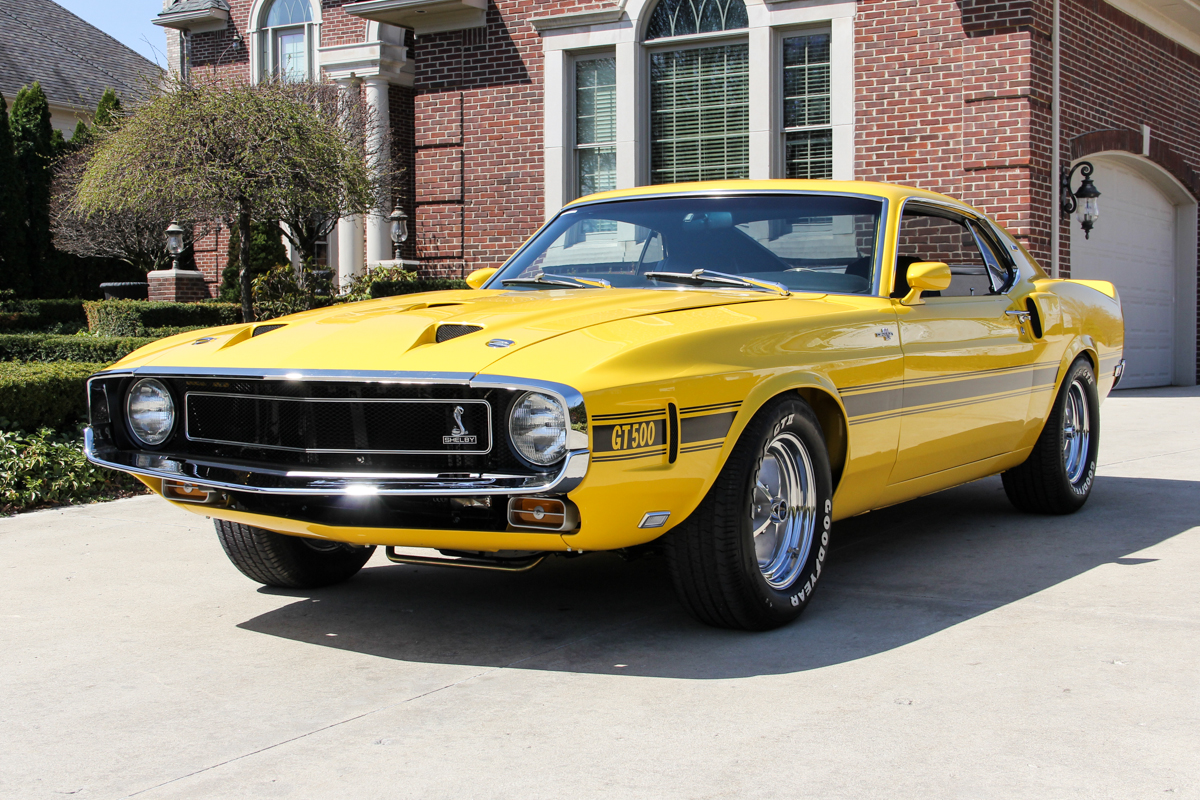 210178 1969 ford mustang fastback  yellow 17562