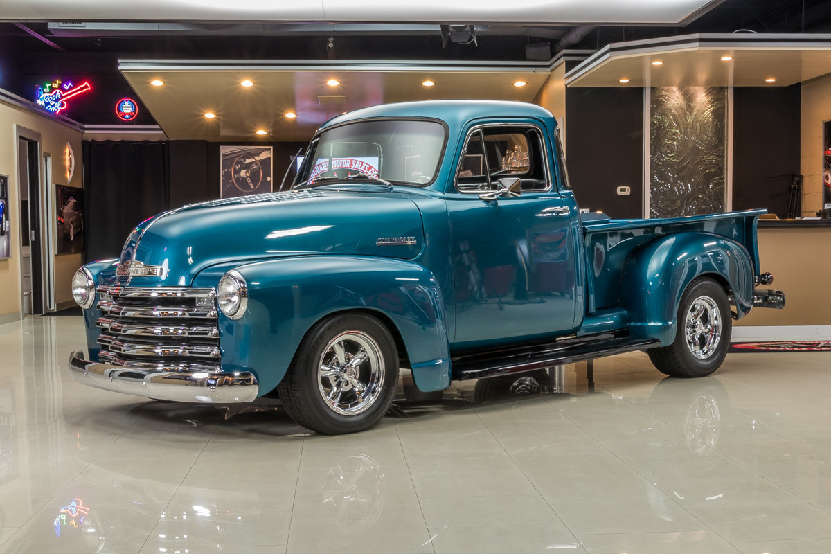 1952 chevrolet 3100 5 window pickup for sale 46676 mcg for Vanguard motor sales inventory