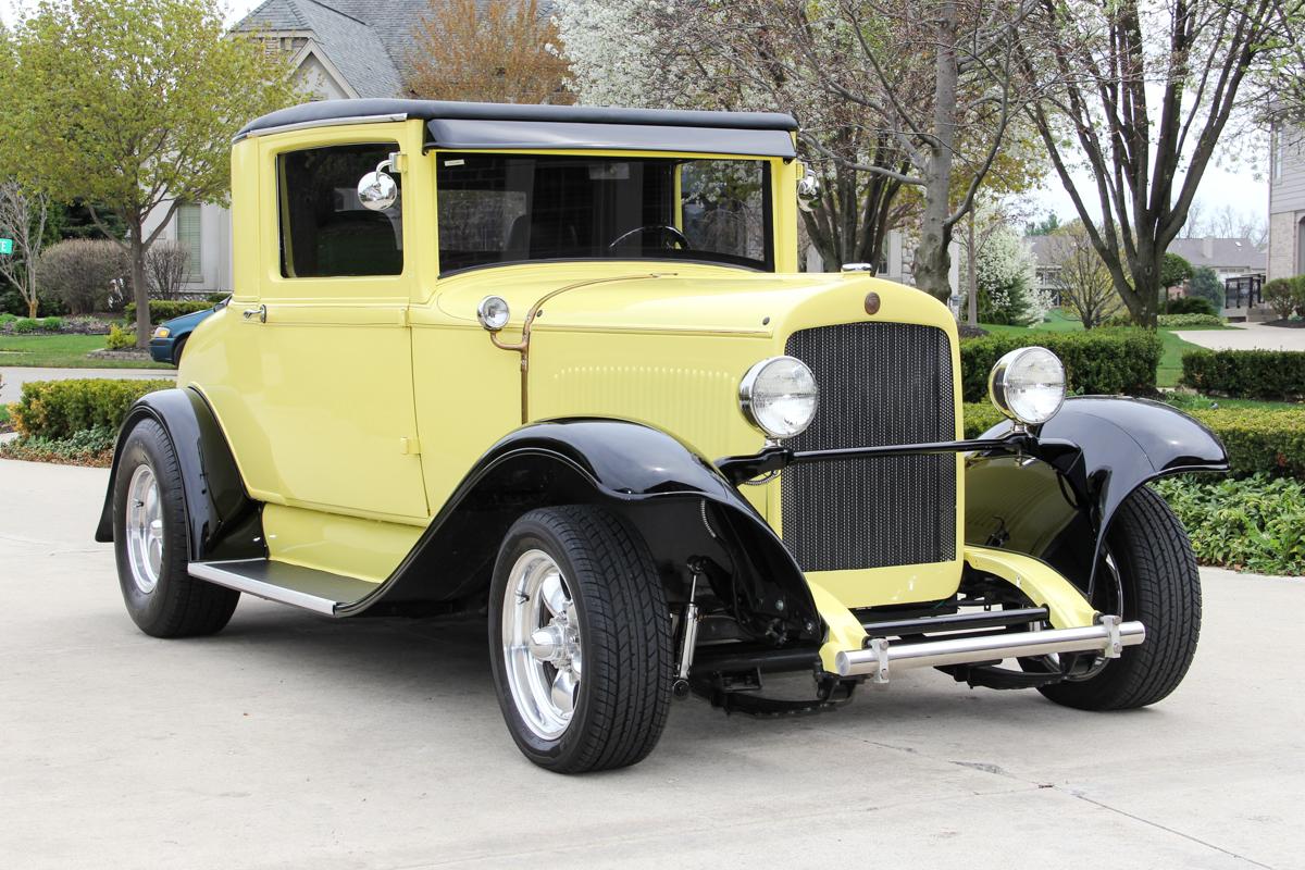 213414 1928 chysler street rod  yellow 802s10