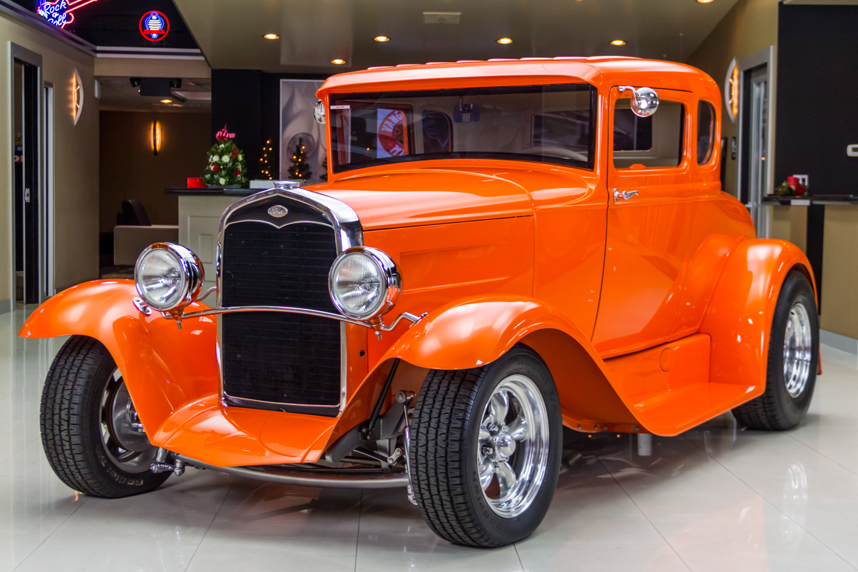 258323 1931 ford 5 window  orange  39823
