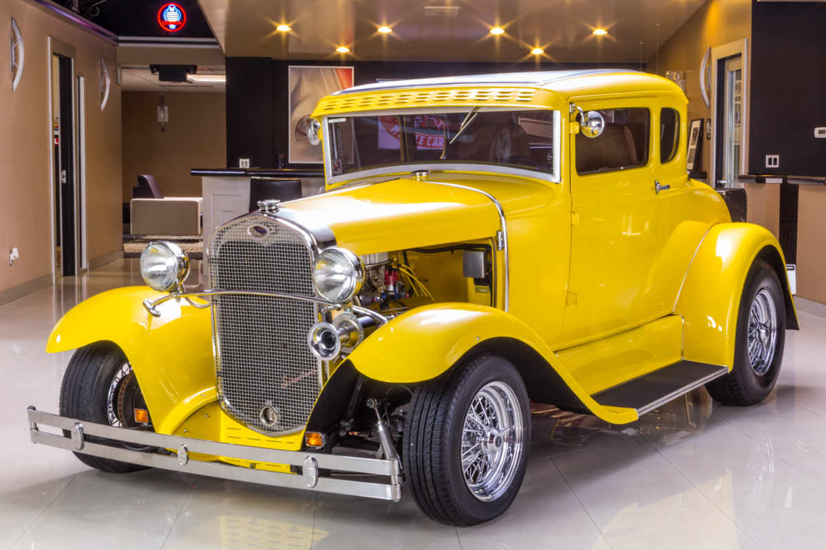273886 1930 ford model a  yellow  60556