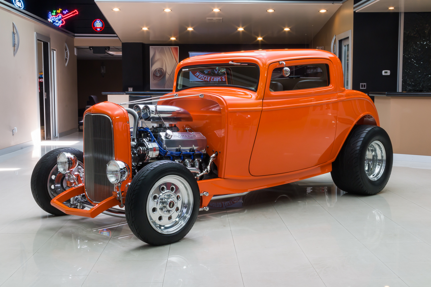 1932 Ford 3 Window Classic Cars For Sale Michigan Muscle Old Dodge Wiring Diagram 279523 Orange 1214 N1