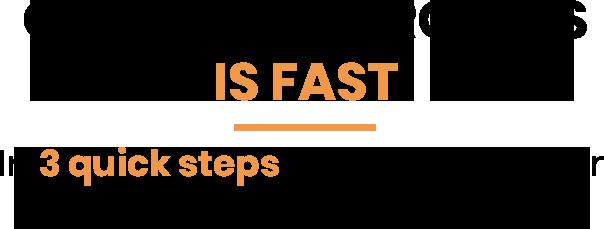 3 steps header
