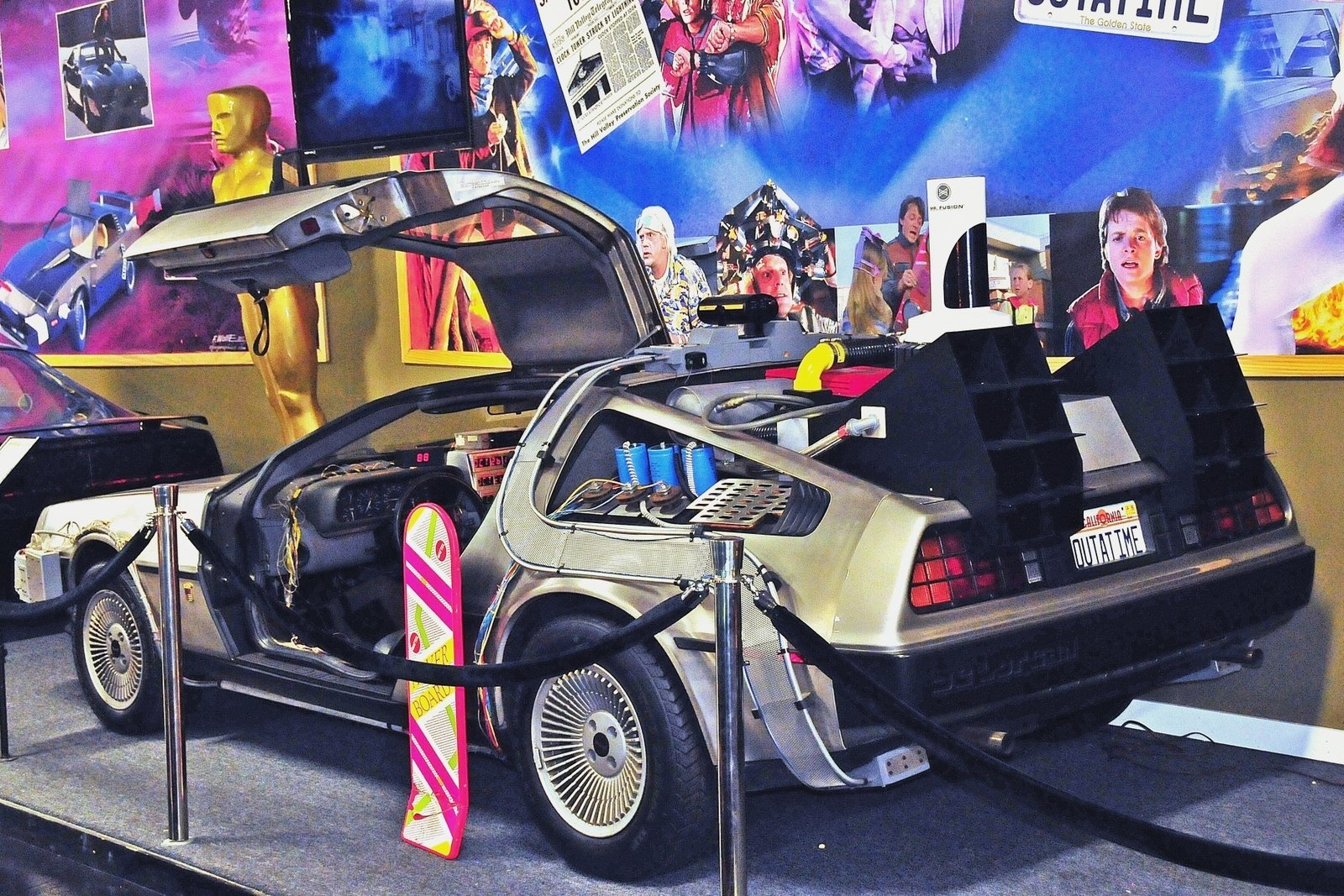 3448385576f4fb hd 1984 delorean time machine