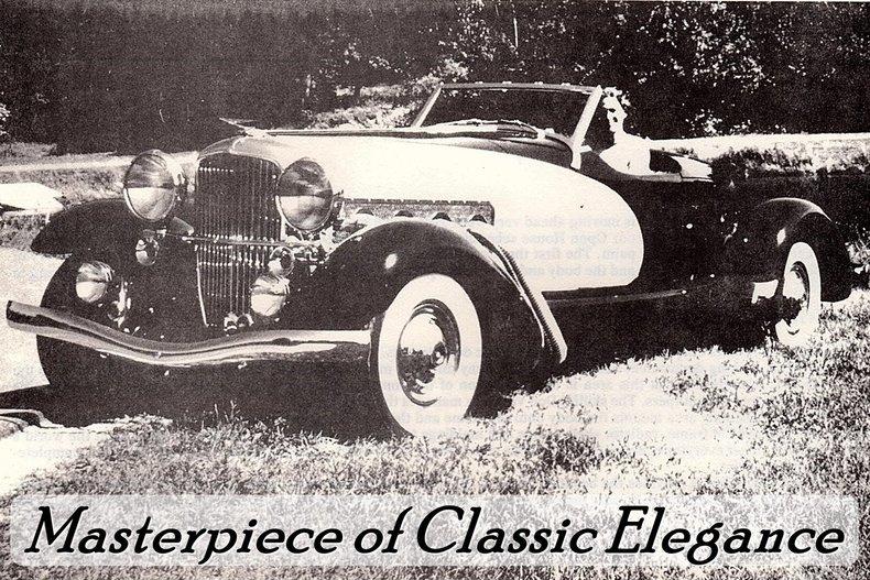 1933 Duesenberg II SJ Boattail Speedster