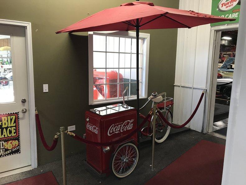 Coca~Cola Vending Tricycle with Umbrella