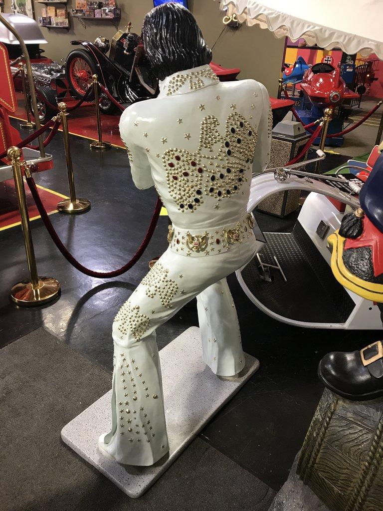 Life-size Elvis in Rhinestone Jumpsuit