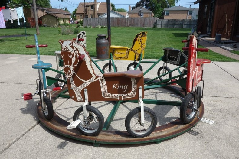 1950's Buster Brown Shoe Store 6 Horse Ride.  Selling No Reserve Beginning Sept.